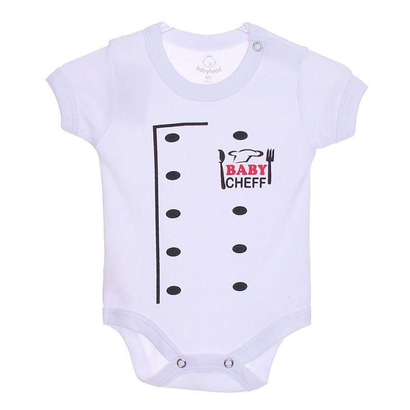 1ea40cda3d Body Baby Cheff Babyhood Manga Curta - Branco