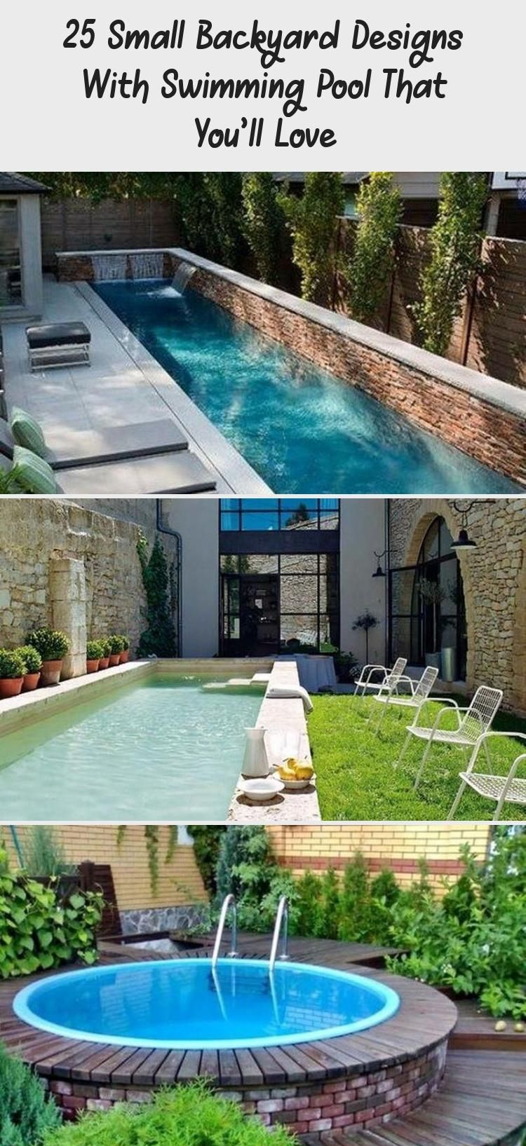 25 Small Backyard Designs With Swimming Pool That You Ll Love Decor Small Backyard Design Small Backyard Modern Backyard Modern backyard ideas with pool