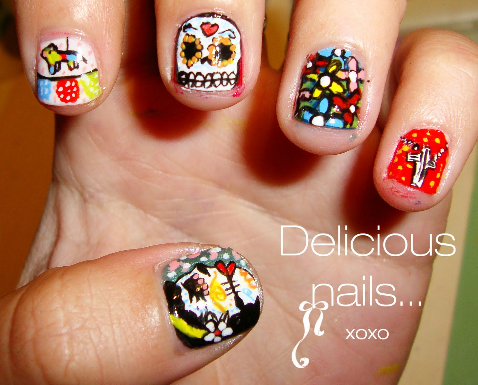 Delicious Nails...: I ♥ Dia de los Muertos... | Nail Art ...