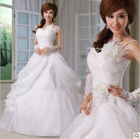 Flat Chest Bride Wedding Dress