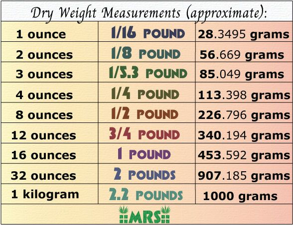 Best Scales For Weed  Measurement Table Charts  Cannabis And