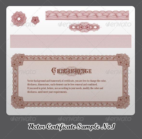Vector Certificate Sample No1 Vector graphics, Infographics and - certificate sample