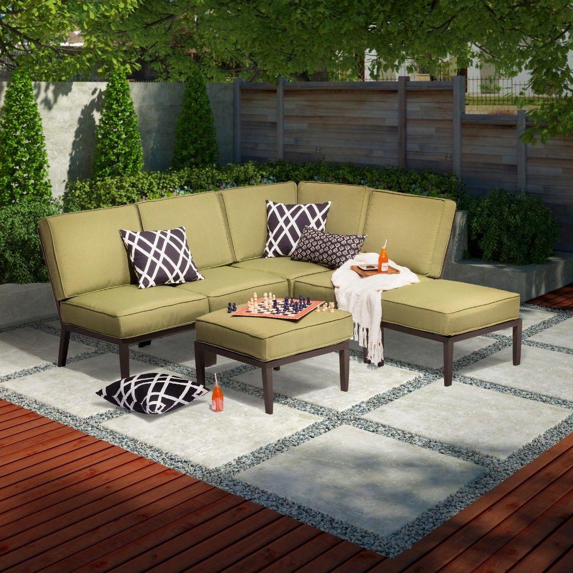 Threshold Madison 6-piece Aluminum Sectional Seating Set