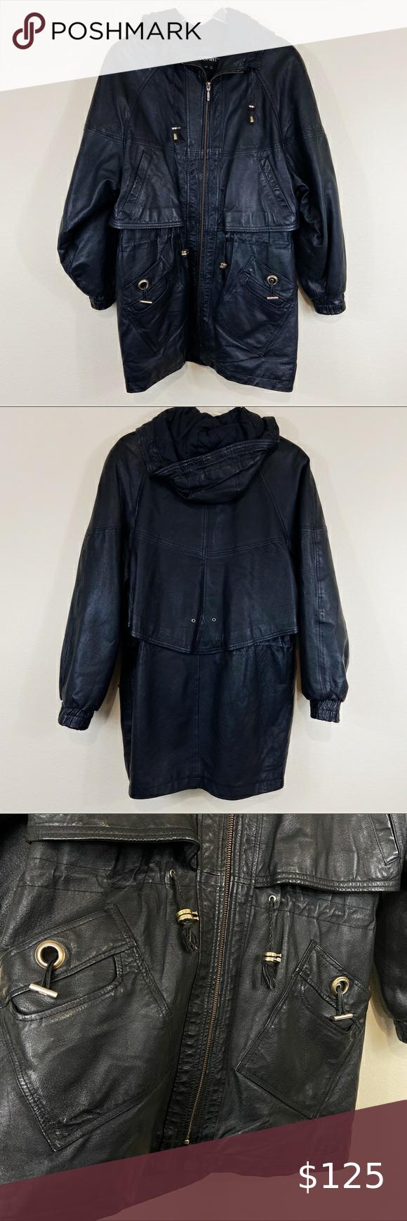 1980 S Vintage Comint Leather Jacket Sz M Circa 1980 S Vintage Comint Brand Black Leather Jacket Size M Wool Maxi Coat Long Leather Coat Black Leather Skirts [ 1740 x 580 Pixel ]