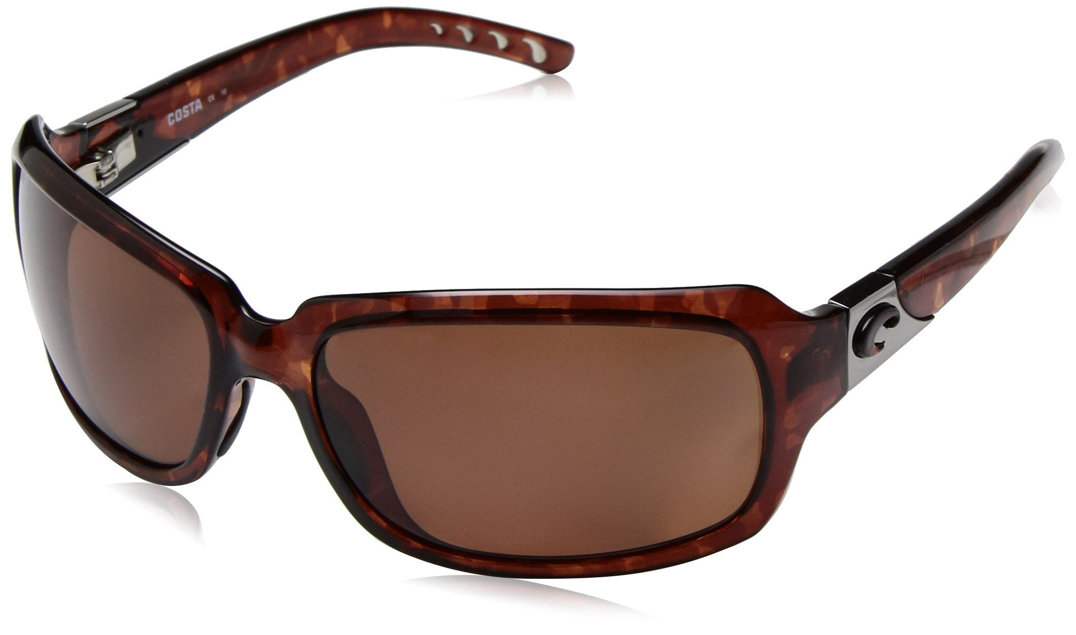 2e0e8d59402 Costa del Mar Womens Isabela IB 10 OCP Polarized Oval Sunglasses Tortoise  63.2 mm -- Details can be found by clicking on the image.