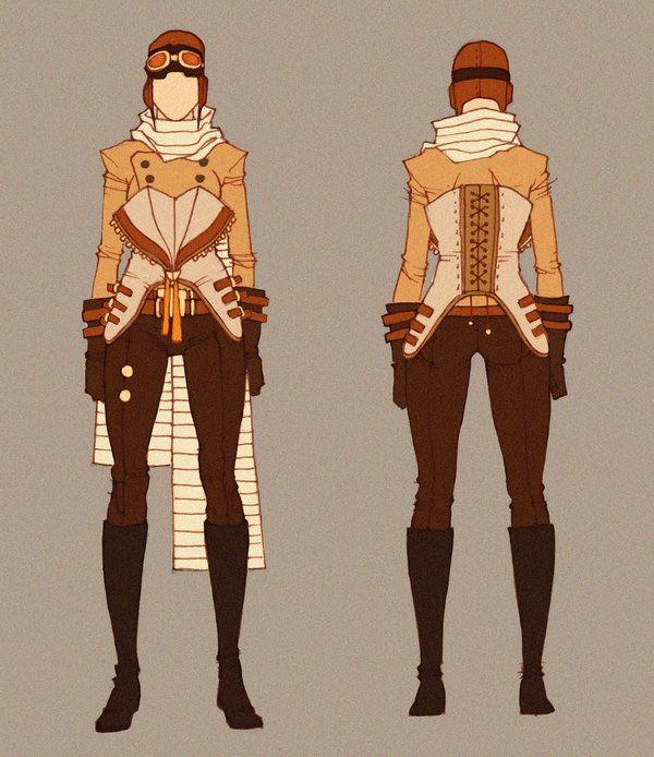 Steampunk Pilot - Concept by MizaelTengu.deviantart.com on @DeviantArt