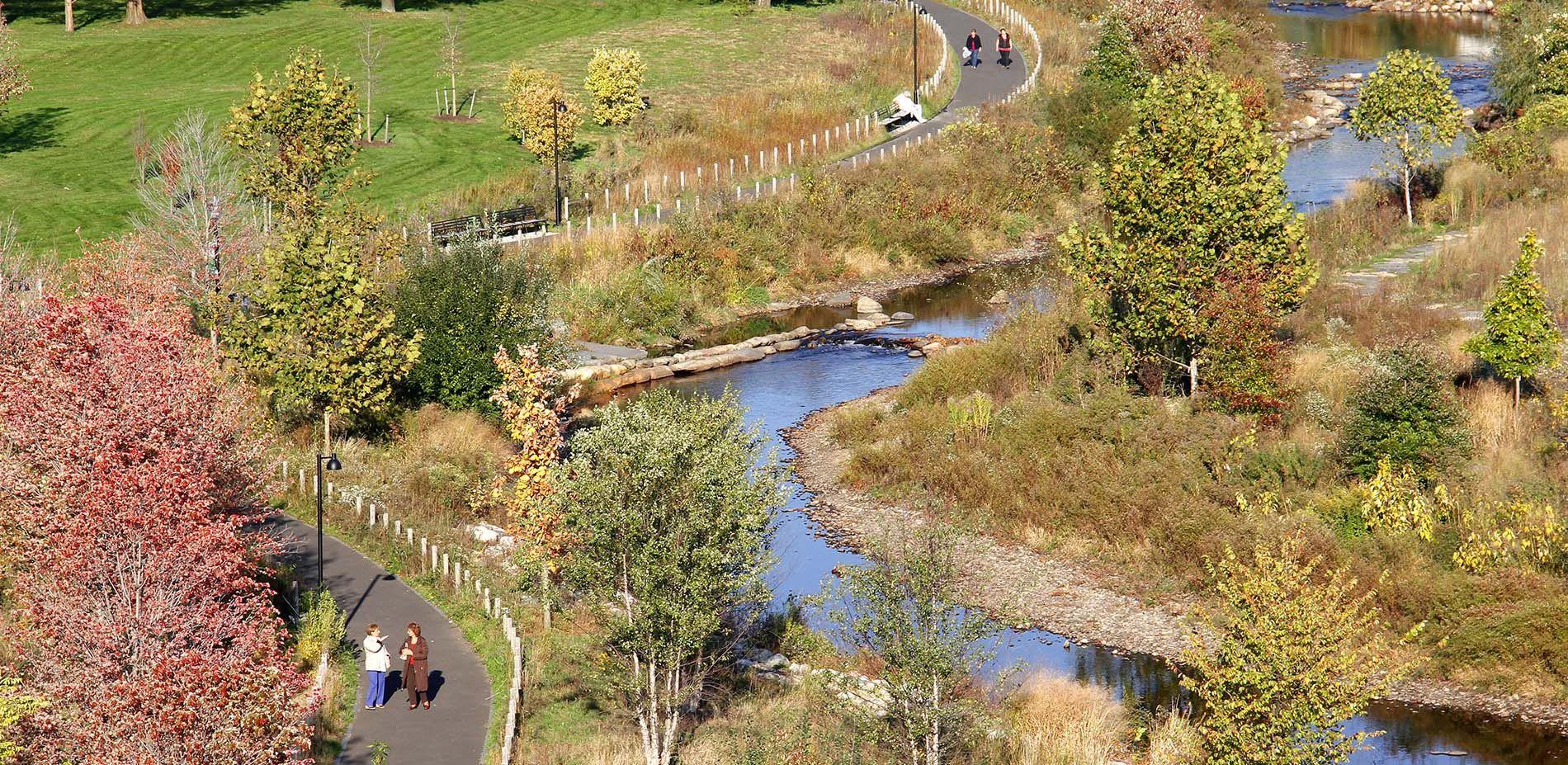 Riparian Corridor Mill River Restoration Stamford Ct Landscape Architecture Diagram River Park River