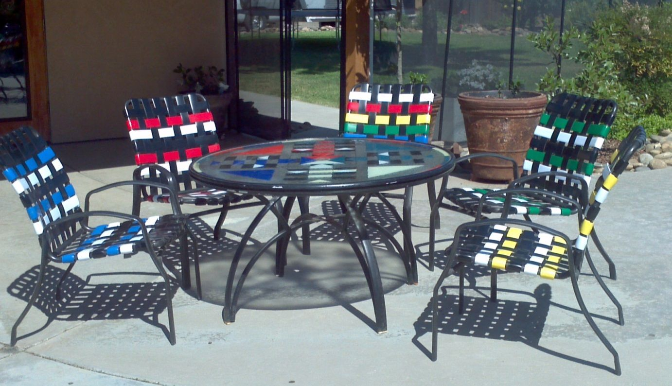 How To Install Double Wrap Vinyl Strap On Your Patio Chairs Or