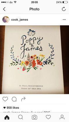 wedding programme cover