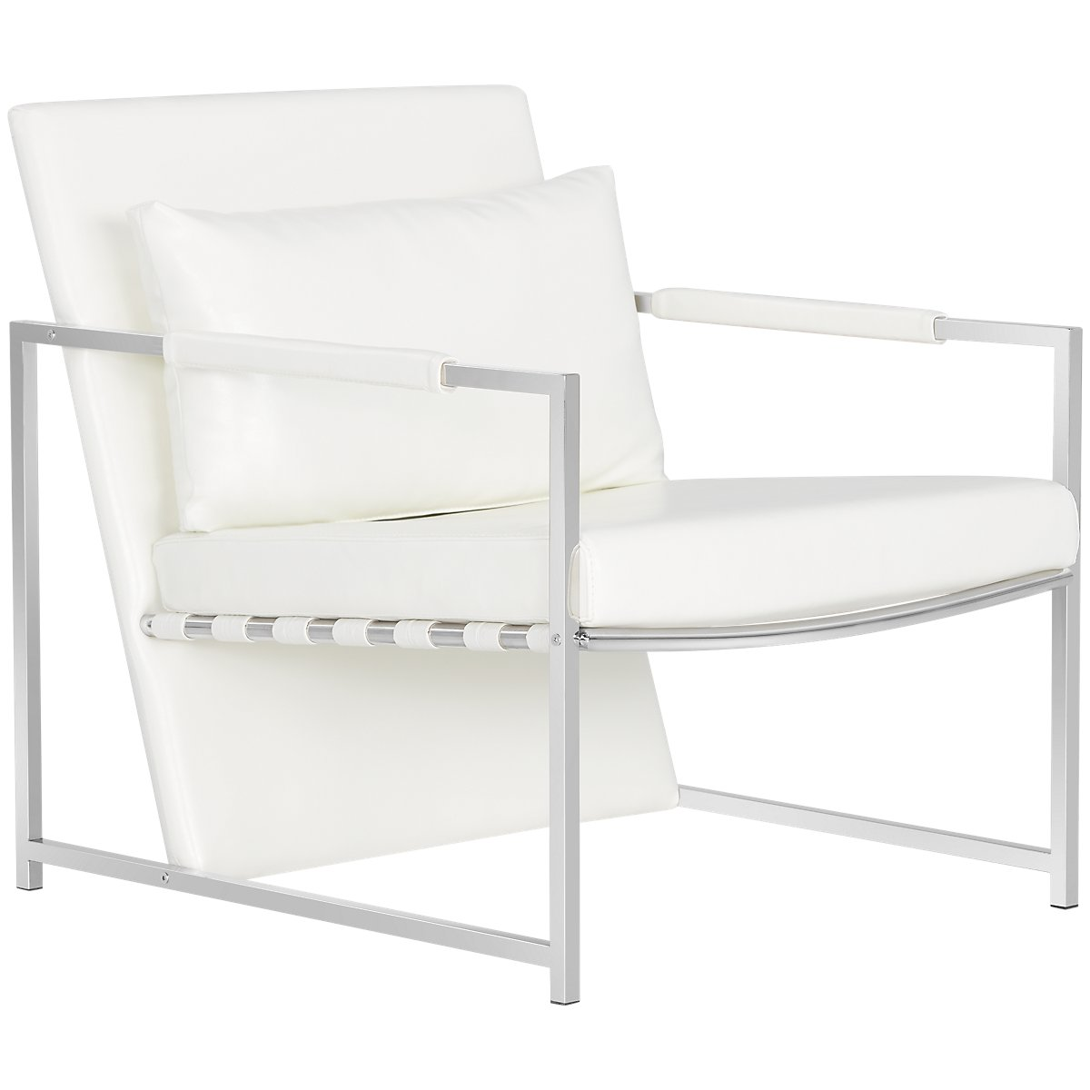 Accent Chair From Oggetti Designs Miami: Russell White Upholstered Accent Chair