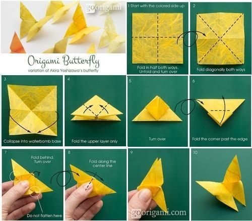 Best Origami Butterfly Ever — Instructions | Go Origami | 438x500