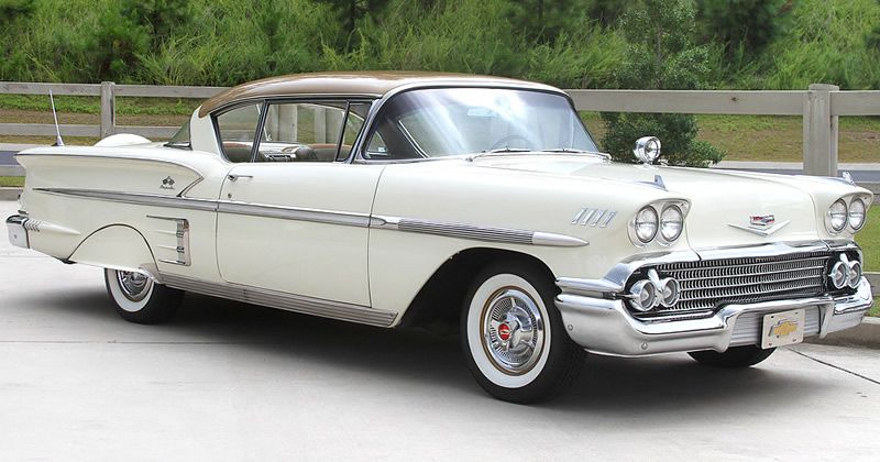 1958 Chevrolet Bel Air Impala Sport Coupe With Tri Power 348 V8 Chevrolet Bel Air Chevrolet Cool Old Cars