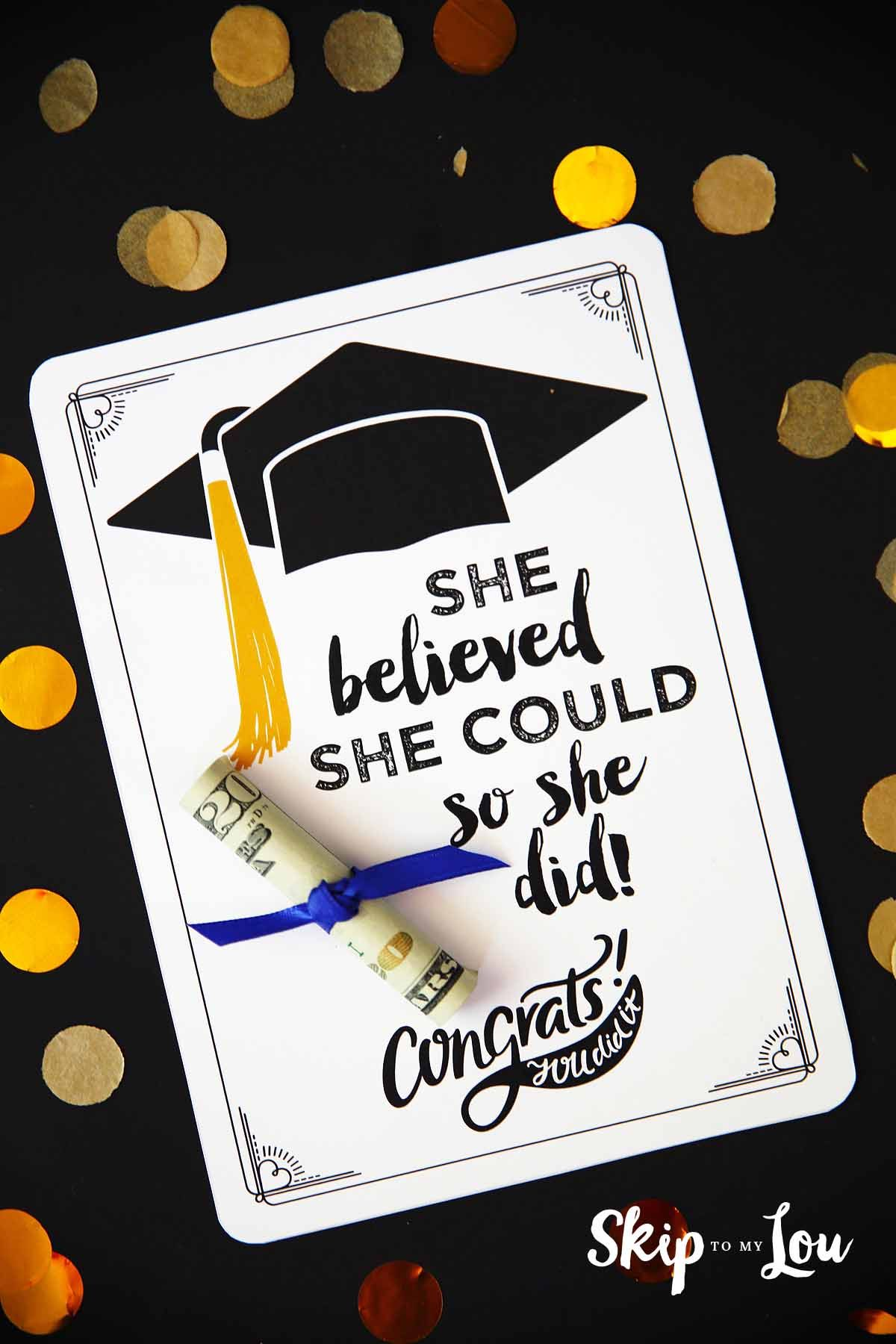 Free Graduation Cards With Positive Quotes And Cash Graduation