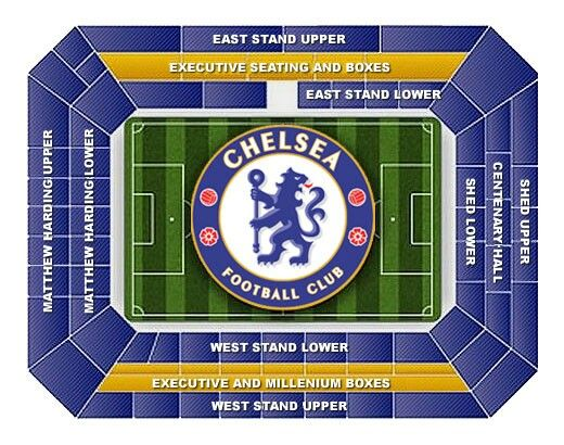 Stamford Bridge Seating Chart I Want To Go And See A Match Chelsea Fc Team
