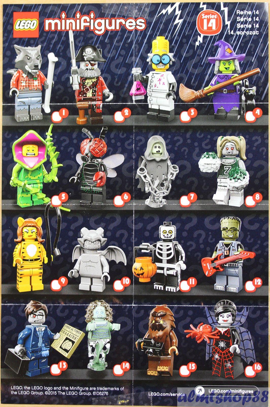 Lego Mini Poster Leaflet Minifigures Series 1 2 3 4 5 6 7 8 9 10