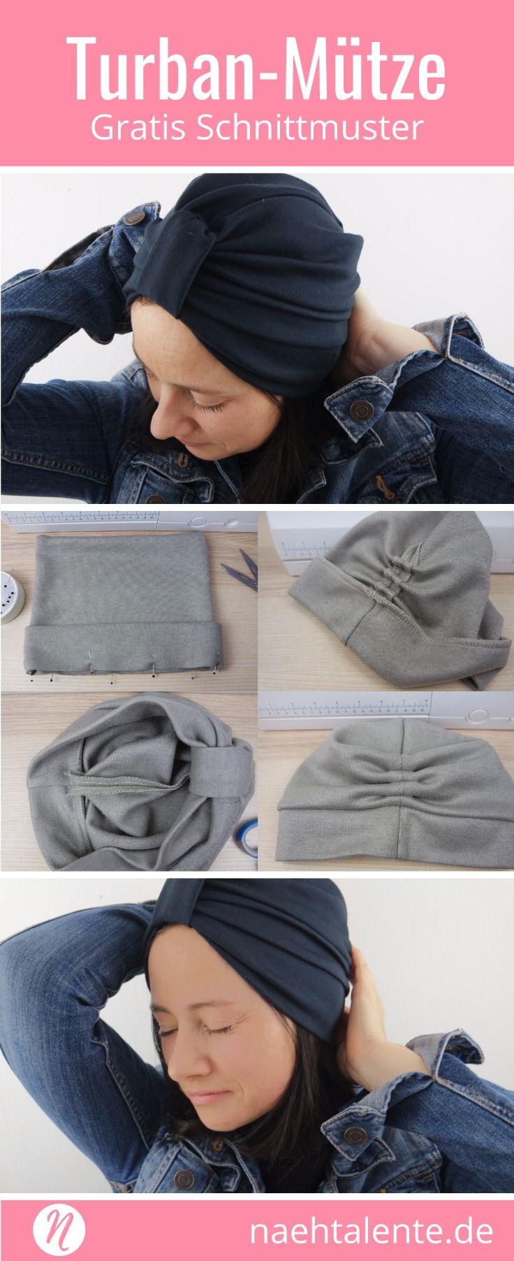 Turban-Mütze für Damen | Mütze, Nähanleitung und Omas