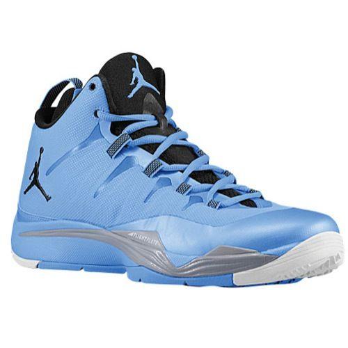 100% authentic 2c6ae 02647 light blue and black jordan super fly 2
