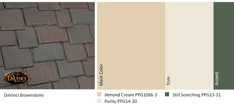 Best Davinci Brownstone Almond Cream Exterior Color Schemes 400 x 300