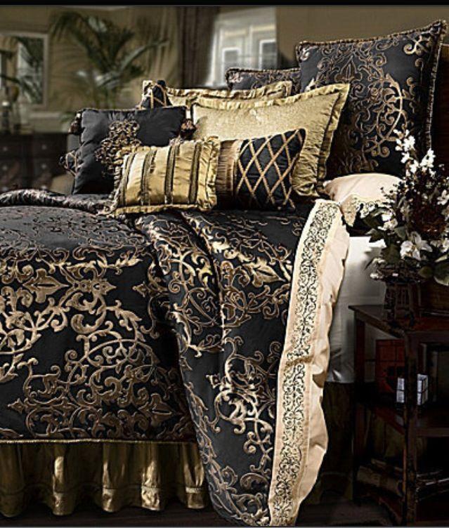 Marvelous Black And Gold Bedroom Design Black Gold Bed Set ...