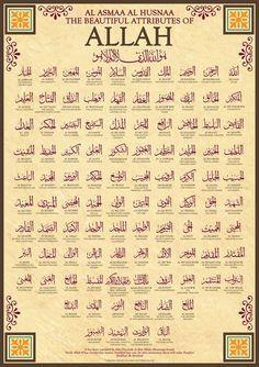 Islam 99 Names Of Allah Subhannallah Is Beautiful InSyaAllahAlhamdulillah