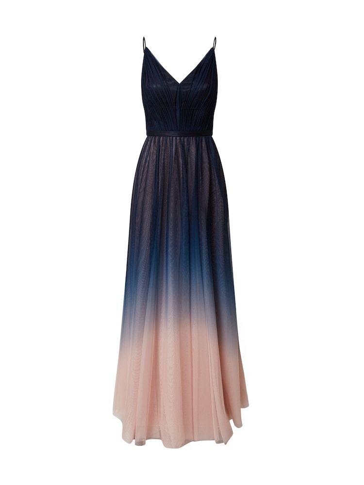 Vm Vera Mont Kleid Damen Creme Dunkelblau Grosse 36 Kleider Formelle Kleider Abendkleid