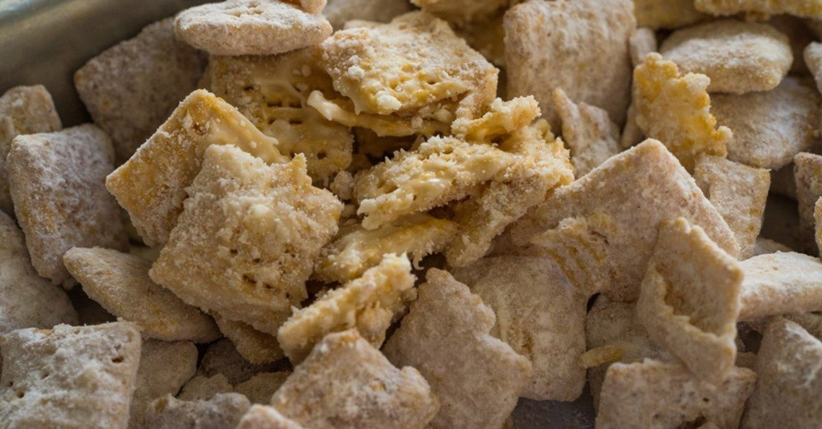 Snickerdoodle Puppy Chow Recipe Salty Treats Snacks Cinnamon Snack