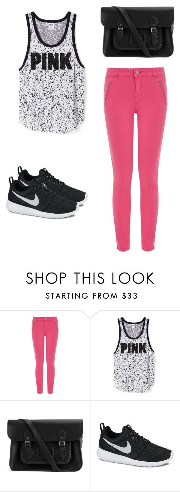 """pink"" by follow-me100 ❤ liked on Polyvore featuring Oasis, The Cambridge Satchel Company, NIKE, women's clothing, women's fashion, women, female, woman, misses and juniors"