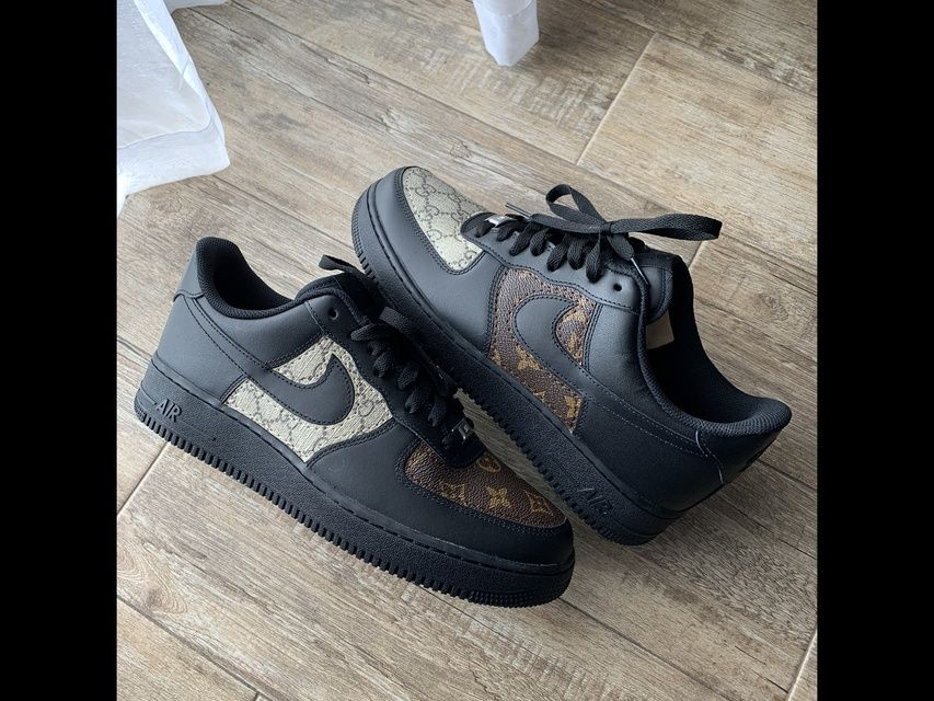 Mix match Gucci x LV black Airforce 1 by Gavcustoms 🌀 in