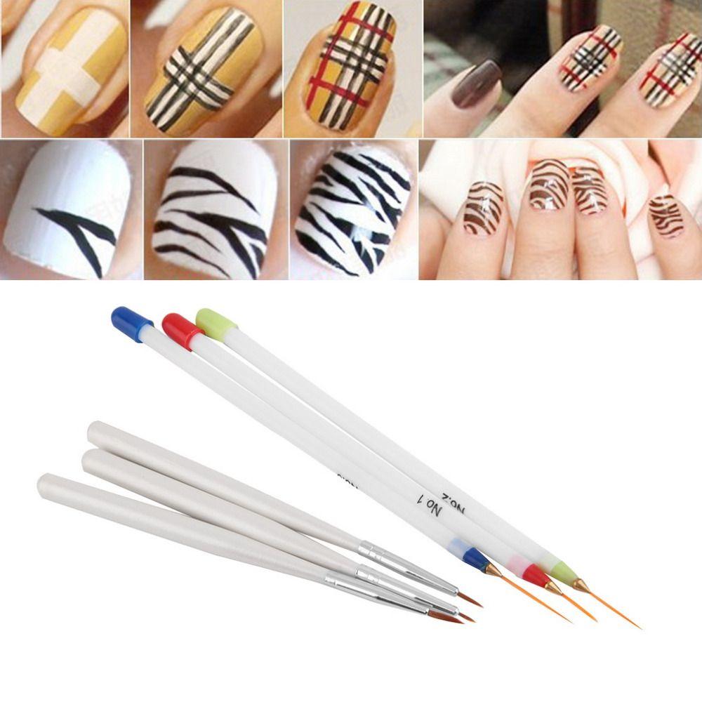 6 Stücke Acryl Französisch Nail art Liner Malerei Zeichnung Pen Kit ...