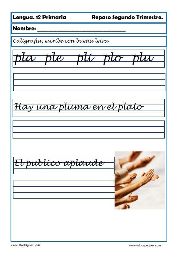 Ejercicios de caligraf a para ni os c mo mejorar la letra vero pinterest - Como mejorar la caligrafia ...