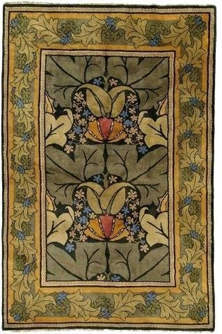 Arts And Crafts Area Rug Rugs Style Homes Wallpaper Decor Cottage