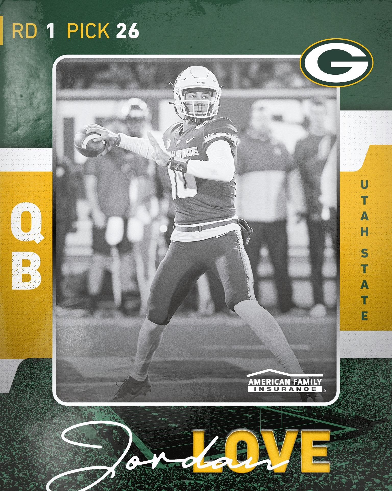 Welcome To Green Bay Jordan Love In 2020 Green Bay Green Bay Packers Packers