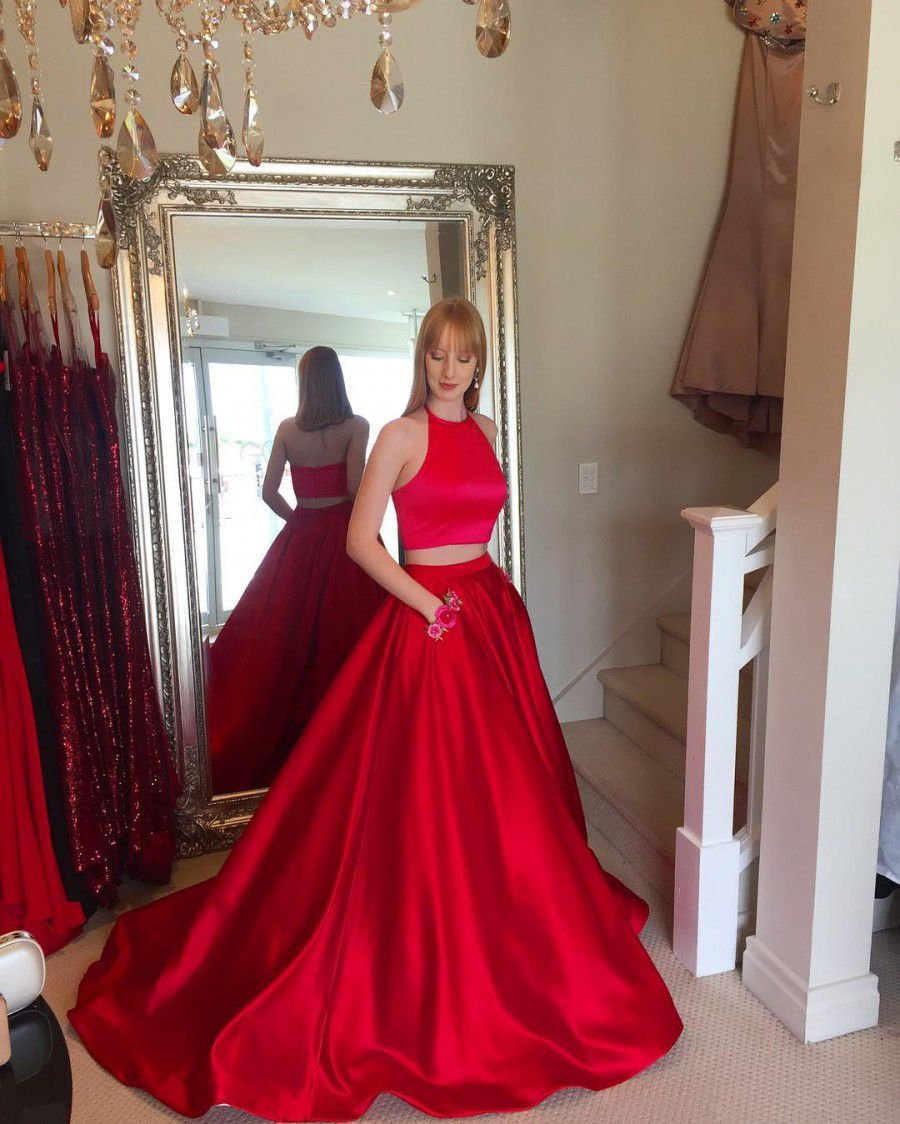 Charming Red Prom Dress Ball Gown Prom Dresses long prom dresses