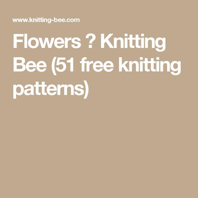 Flowers Knitting Bee 51 Free Knitting Patterns Knitting