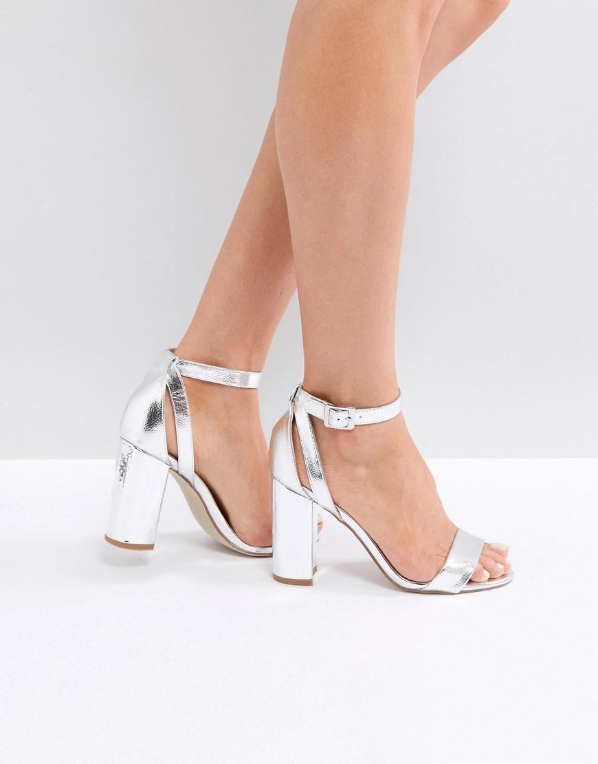 eb39ec9a5828  ASOS -  New Look New Look Metallic Block Heel Sandal - Silver - AdoreWe.com