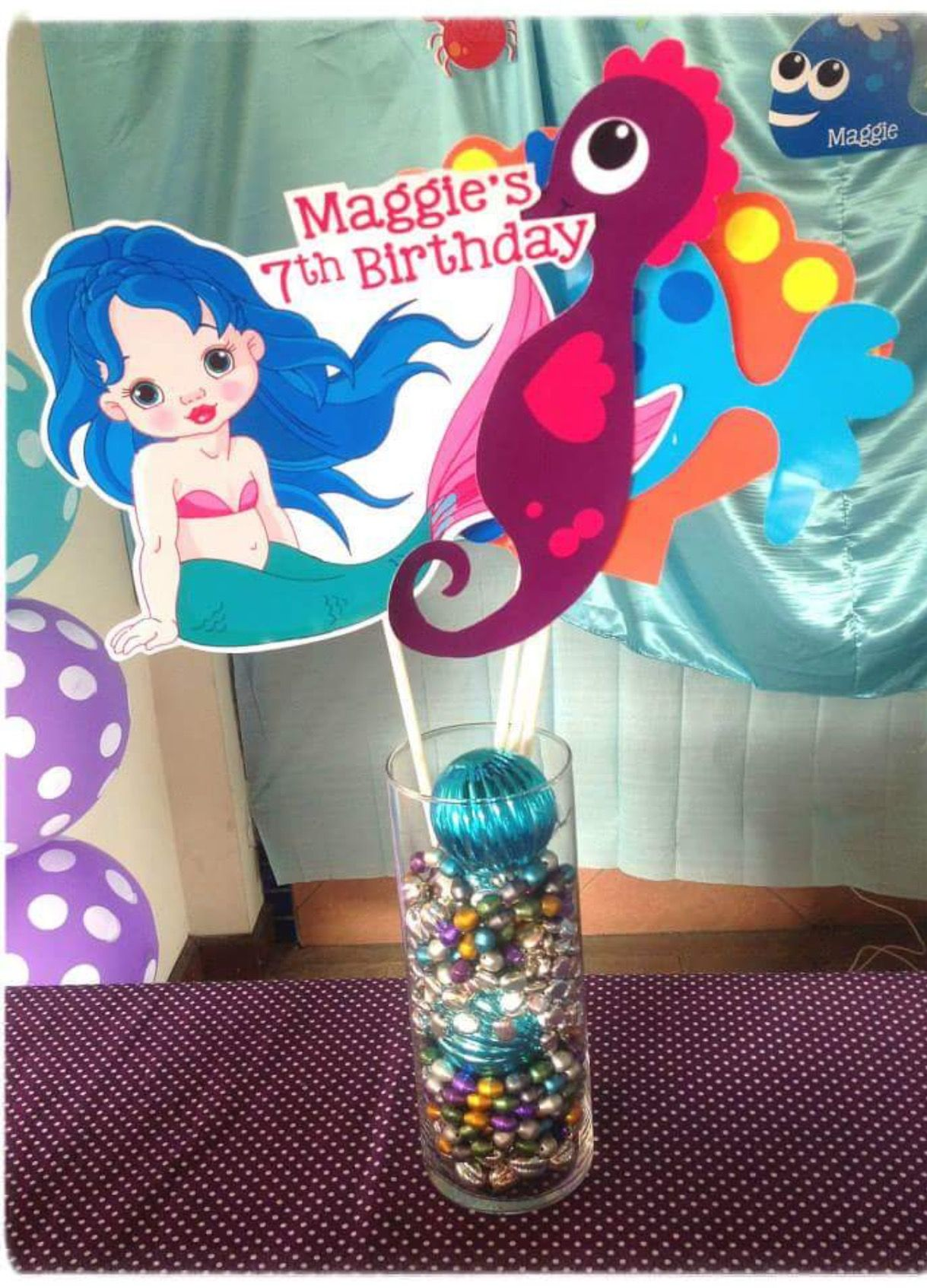 Decoration Stuff for Little Mermaid Theme Birthday Party
