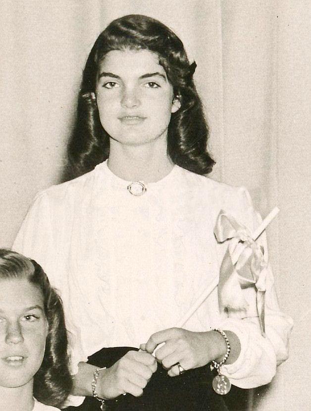 "School Photo of Miss Jacqueline Lee ""Jackie"" (Bouvier) (July 28, 1929 – May 19, 1994) .❤❁❤❁❤❁❤❁❤❁❤ http://en.wikipedia.org/wiki/Jacqueline_Kennedy_Onassis"