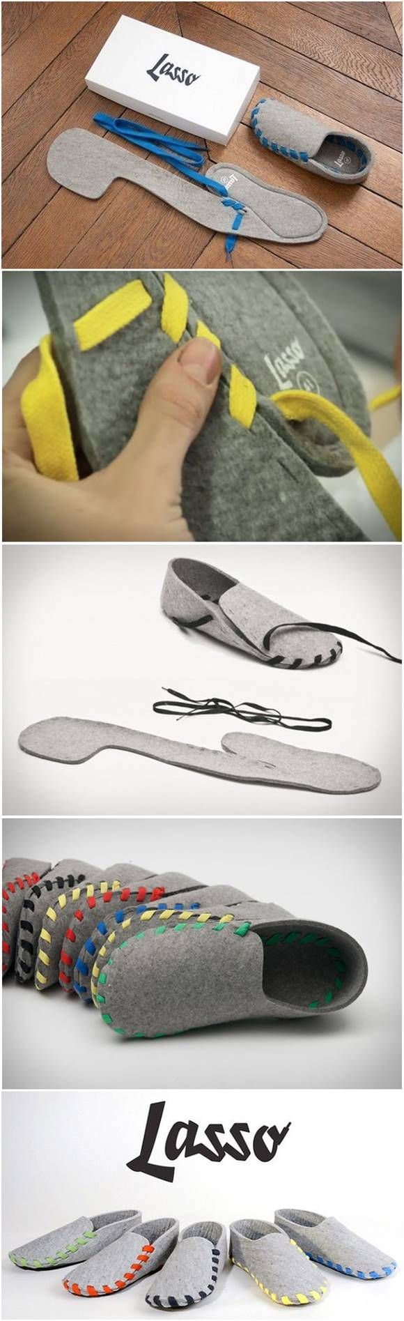 Creative Flat-Packed Slippers – Lasso   Pinterest   Schuhe ...
