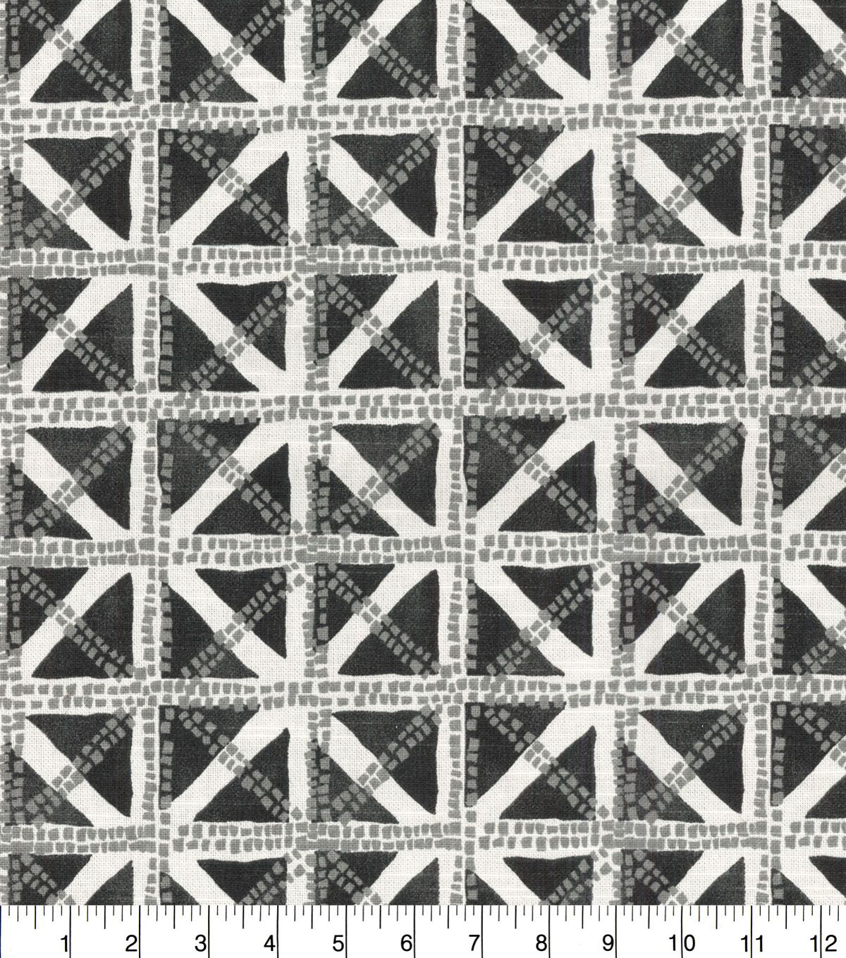 Waverly® Upholstery Fabric 54'' - Charcoal Squared Away