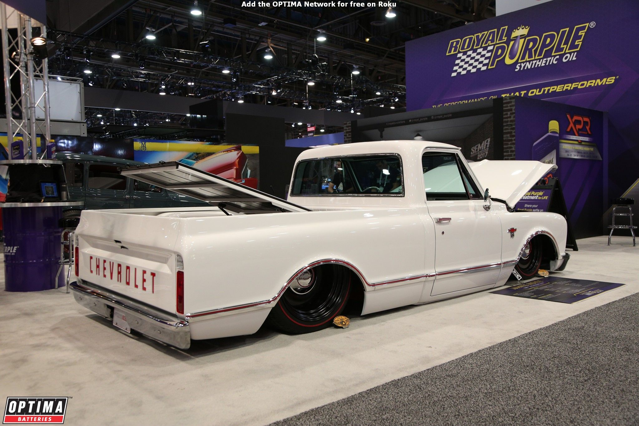Lowered Chevrolet Pickup Truck At The 2017 Sema Show In Las Vegas