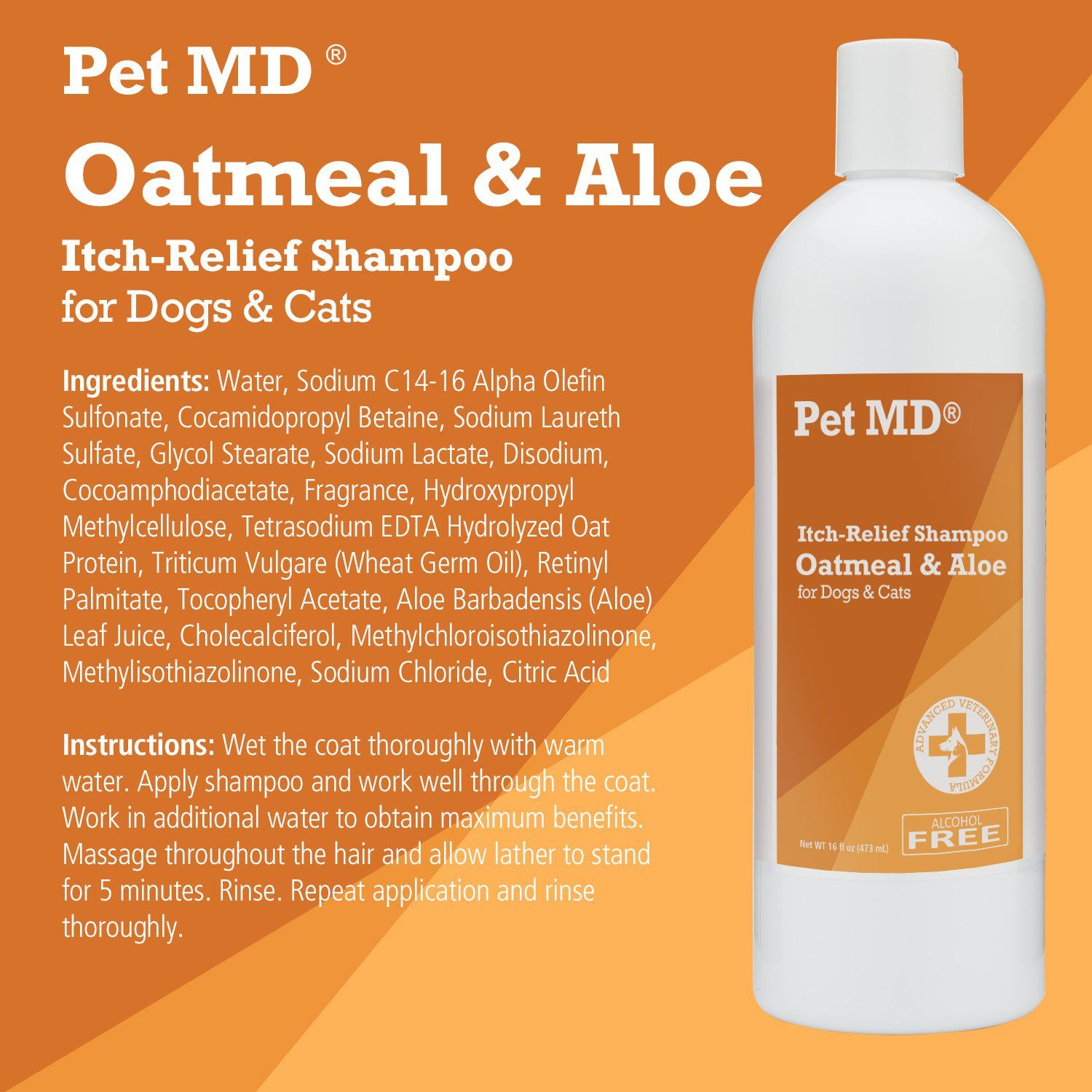 Pet Md Oatmeal Dog Shampoo Cats And Dogs For Itch Relief And Moisturizer For Dry Skin And Coat 16 Oz Want Ext Oatmeal Dog Shampoo Cat Shampoo Dog Shampoo