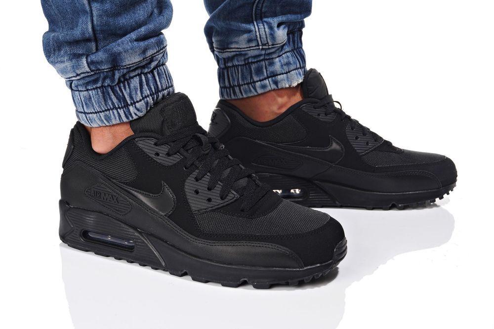Nike Air Max 90 Essential 537384 090 Sportschuhe Herren Schwarz Black Sneaker Sneakers Nike Nike Air Max Nike Sportswear