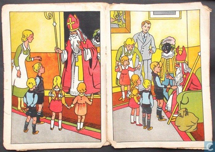 'illustraties' uit het boekje St. Nicolaas, jaar?