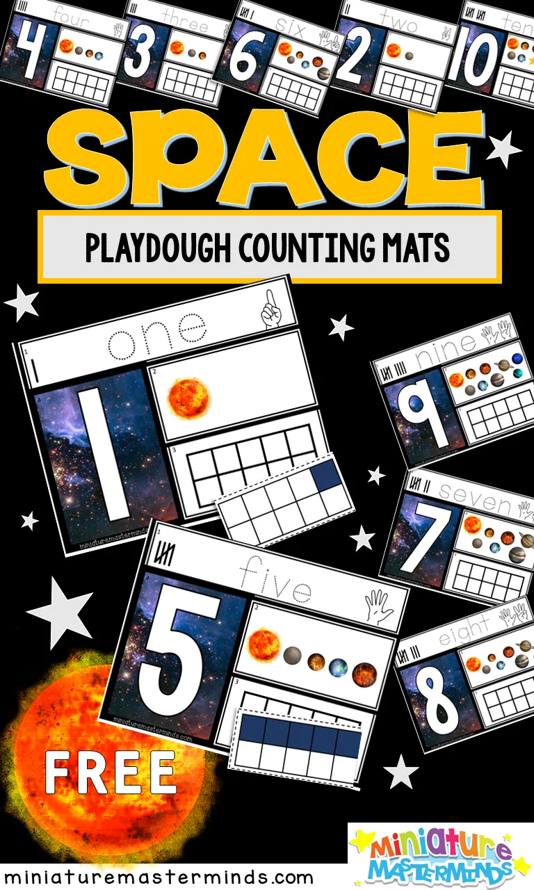 Space Themed Preschool Counting Mats 1 To 10 Miniature Masterminds Preschool Counting Space Preschool Space Theme Classroom [ 1280 x 768 Pixel ]