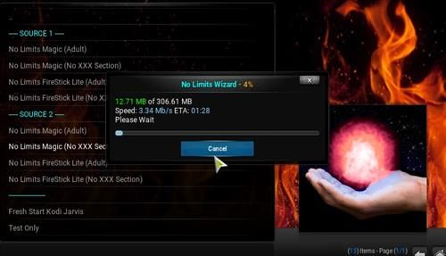Jarvis 16 1 builds   How to Install Kodi No Limits Magic