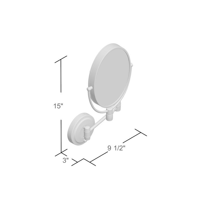 Verlene Cordless Dual Led Lighted Oval Wall Mount Mirror With 1x And 10x Magnification In 2020 Wall Mounted Mirror Mirror Mirror With Lights