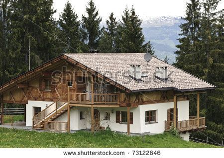 I Love austrian houses. Traditional wooden House with