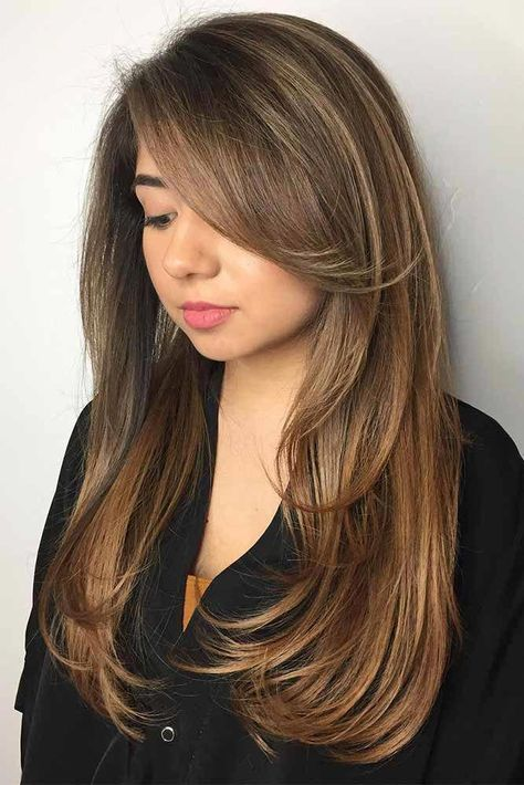 33 Ideas Haircut Styles For Long Hair Layers Bangs Face Framing For 2019 Layered Hair With Bangs Long Layered Hair Hair Styles