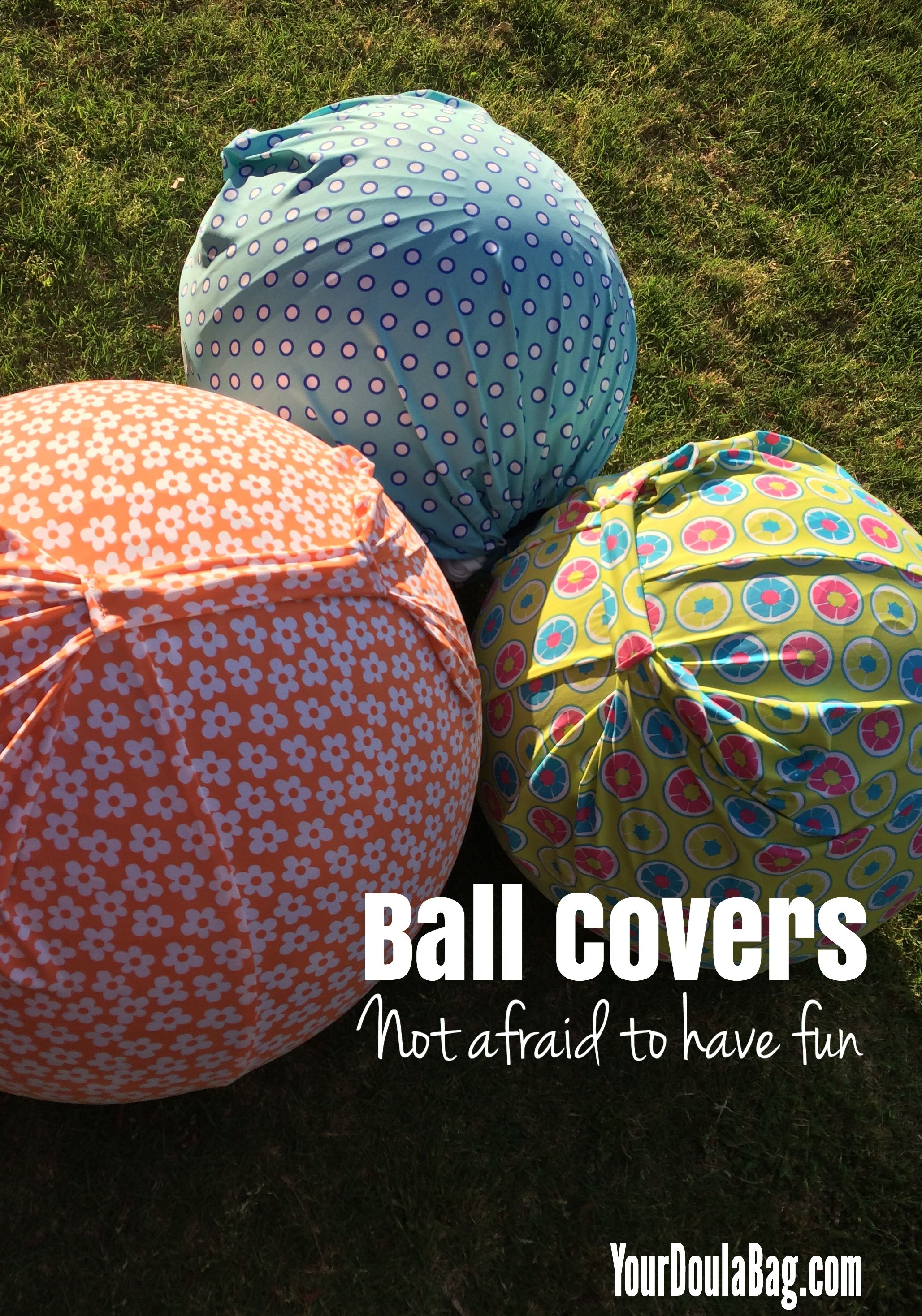 Cover your exercise ball or birth ball with a fun cover to make it clean, easy to carry and cute!  Show your personality!  These covers are bold and fun. Great for doulas, childbirth educators and pregnant moms packing their hospital bag for birth.
