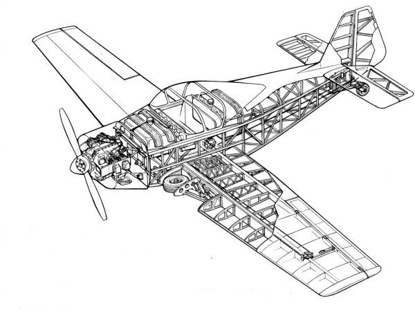Cvjetkovic CA65 Skyfly cutaway t Aircraft Airplane and
